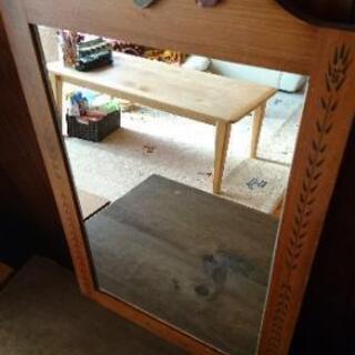 カントリー調   壁掛け鏡
