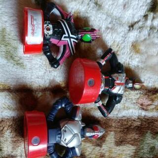 仮面ライダーのおもちゃ3種