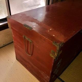 長持(ながもち)木箱 アンティーク