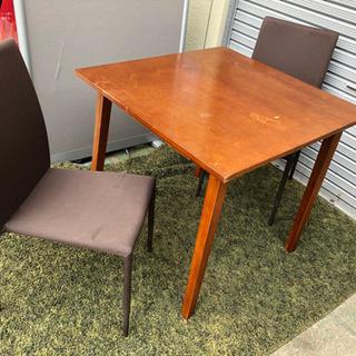ダイニングセット テーブル椅子二脚セット