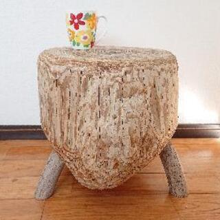 流木西海岸チェアー&ローテーブル。