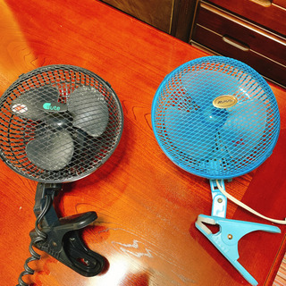 ★決まりました★【ワンコイン】クリップ式扇風機2個セット