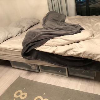 セミダブル 脚付きマットレスベッド