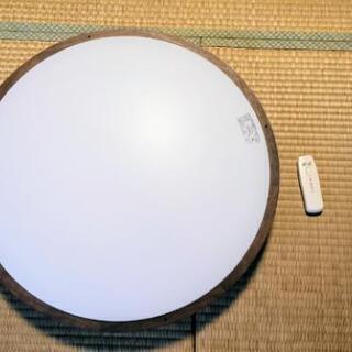 【美品】大型 ウッドリング リモコン付 シーリングライト 照明