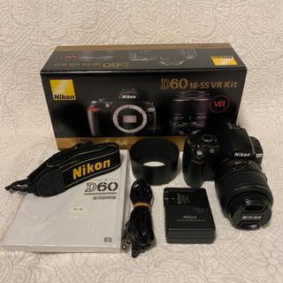 Nikon D60 一眼レフデジタルカメラ 18-55mmレンズ付