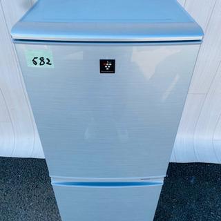 582番  SHARP✨ノンフロン冷凍冷蔵庫❄️SJ-PD14W...