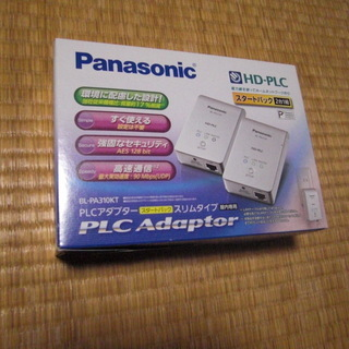 PLCアダプタ-(Panasonic HD-PLC)+LANケ-...