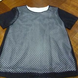 白×黒レース Tシャツ
