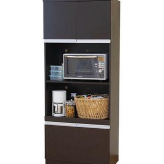 展示品☆美品 レンジボード 食器棚 ブラウン色