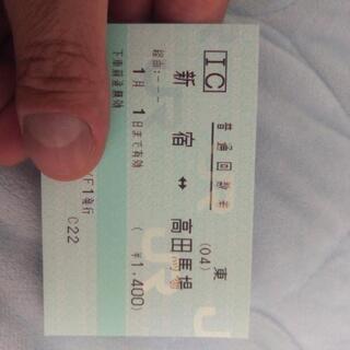 新宿⇔高田馬場 回数券