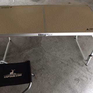 【未使用品】 キャプテンスタッグ テーブル チェア セット 4人...