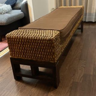 アジアン家具 ベンチソファー 幅1490mm