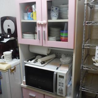 食器棚 ピンク 幅60×奥行39×高さ180