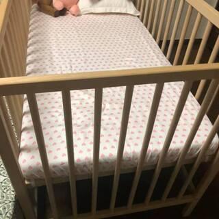 IKEA ベビーベッド, マットレス,  枕  (IKEA ba...