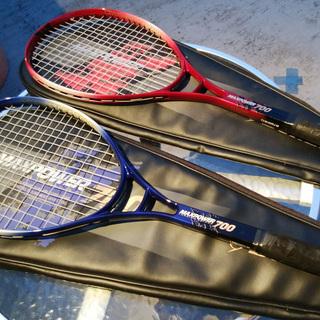 《姫路》DUNLOP☆MAXPOWER 700軟式テニスラケット2本