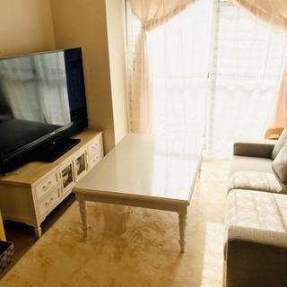 【価格交渉可】シャビーシック 家具調こたつ 120cm×80cm