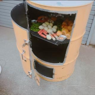 自家製の燻製器⭐︎  温熱器&温度計・網2個付き