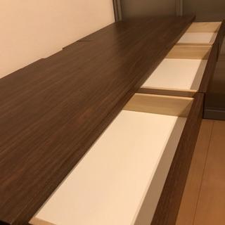 ベルメゾンの平机 (木製、ブラウン、日本製)