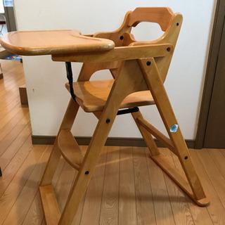 木製ハイチェア 子ども食卓椅子