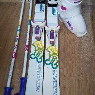 子供用スキー板、くつセット