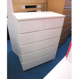 札幌 幅80cm 5段チェスト ホワイト 白 箪笥 タンス エナ...
