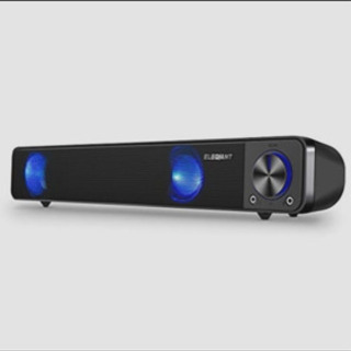 PCスピーカー ELEGIANT 高音質 大音量 小型 重低音 ...