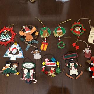木製クリスマス飾り15点