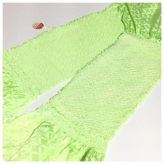 極上 未使用 美品 特選 絞り 帯揚げ(黄緑)リサイクル 和装小物