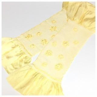 極上 美品 特選 絞り 帯揚げ(黄色)リサイクル 和装小物
