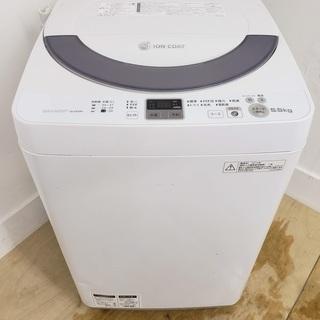 閉店セール SHARP洗濯機 5.5kg 東京 神奈川 格…