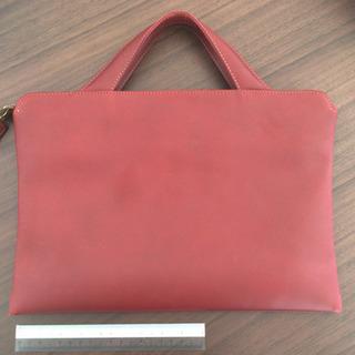 革 TRION バッグ 限定色 レッド