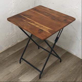 天然木折りたたみテーブル
