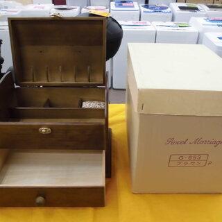 スウィートマリッジ ソーイングボックス  裁縫箱 木製 ブラウン...