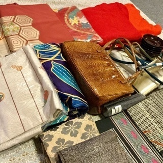 ☆レトロな着物和装用コート 小物 帯 帯紐 バッグ その他 趣味...