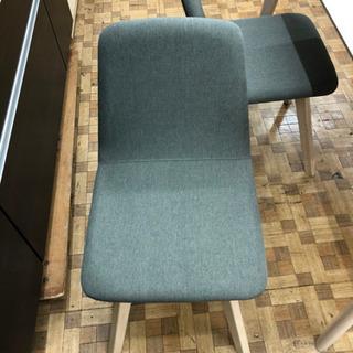 ダイニングテーブルセット(チェア2色)木目調テーブル(展示品☆美品) - 家具