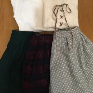 【値下げ】【冬物】トップス、スカート計5点