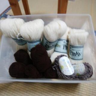 毛糸 3 種類 高級ウール 毛糸も入っています。