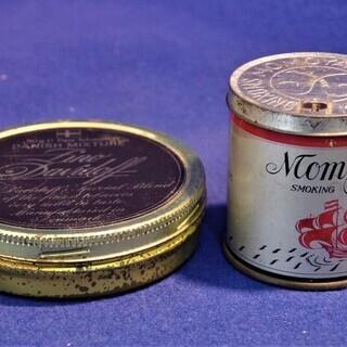 パイプ煙草の缶2P 桃山