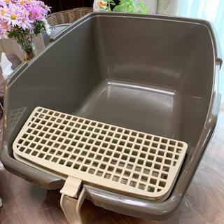 アイリスオーヤマ掃除のしやすい猫トイレ カバーなしタイプ ブラウン