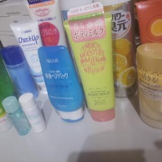 化粧水、乳液、ヘアパック