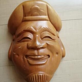 七福神 木彫 お面 恵比寿さま