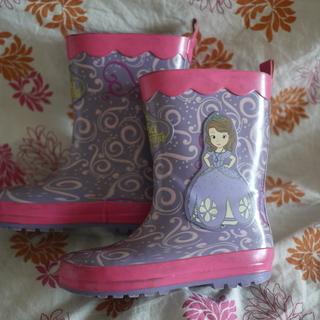 プリンセスソフィアのレインブーツ(長靴)17センチ