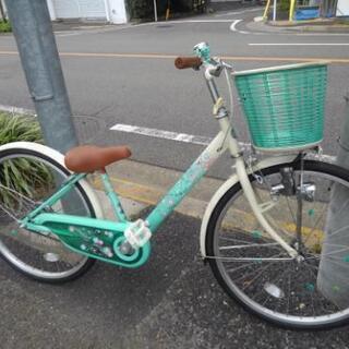 中古子供自転車704  子供自転車 前後タイヤ交換! ブリヂスト...