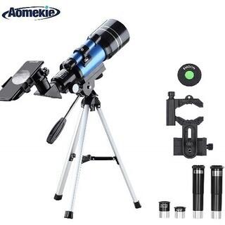 【新品・未使用】天体望遠鏡 子供 初心者 70mm大口径 150...