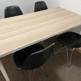 テーブル&イームズタイプいす4脚 ダイニングテーブル