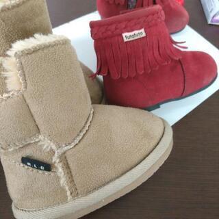 秋冬用ブーツ 2足セット 13.0cm − 北海道