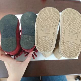 秋冬用ブーツ 2足セット 13.0cm - 家具