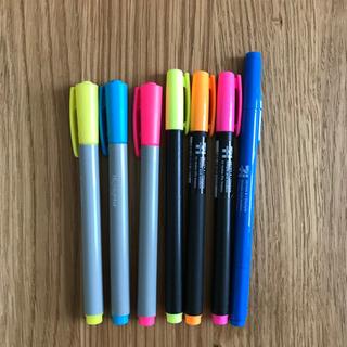 水性蛍光ペン6本・水性ペンツインタイプ 1本