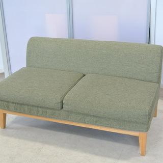 早い者勝ち!ニトリの2人掛けソファ クッション 緑 グリーン