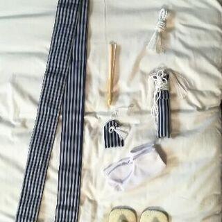 七五三☆五歳男児羽織袴フルセット足袋付き☆濃紺晴れ着着物 - 売ります・あげます
